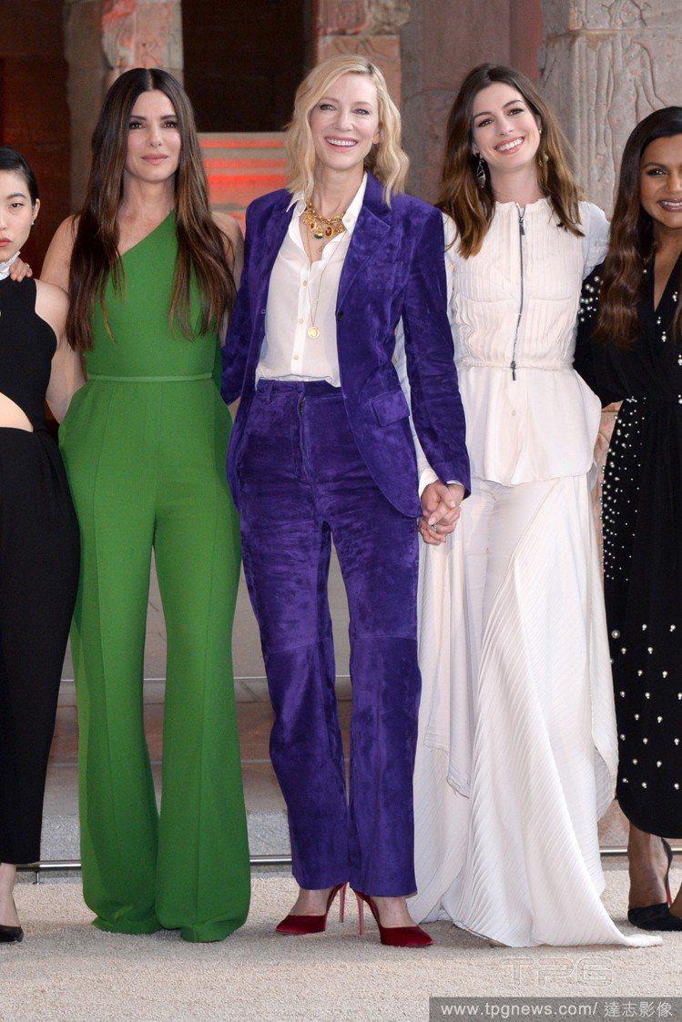 (左至右)珊卓布拉克、凱特布蘭琪、安海瑟薇。圖/達志影像