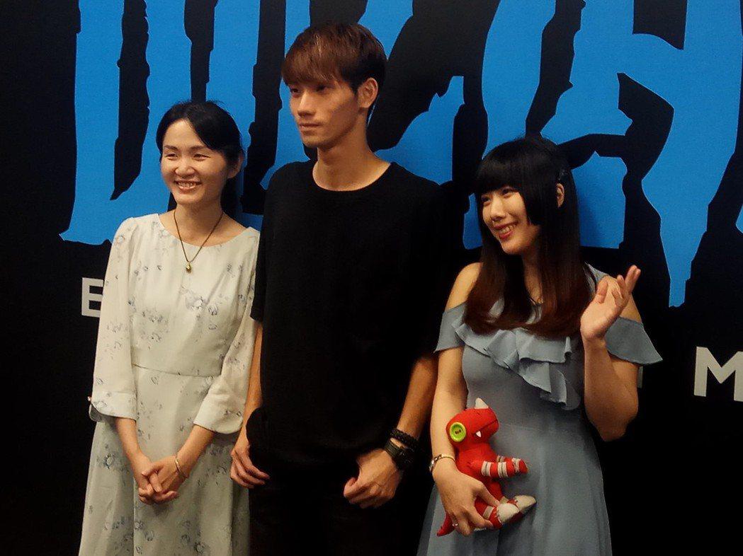 三名得獎者,左至右:Lulu、張敦喻、王喬蕎