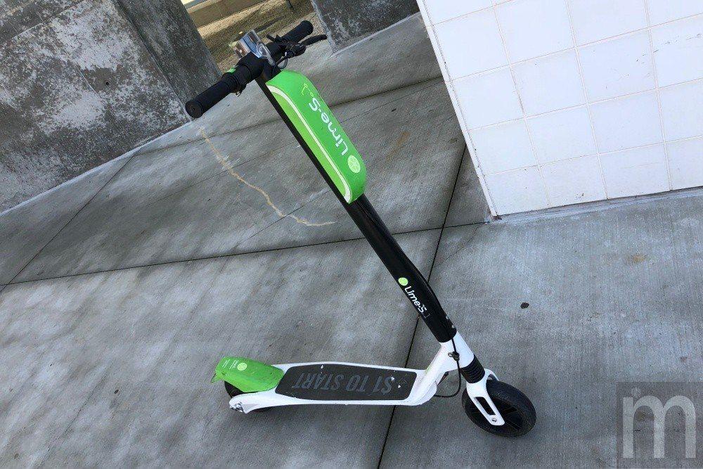 照片為Lime所提供共享電動滑板車