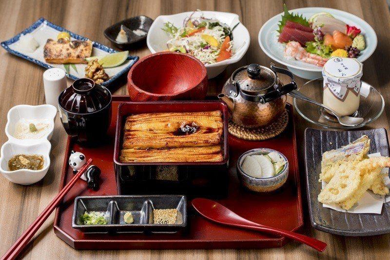季節小盒會席料理,包括海鰻箱盒膳、沙拉、刺身、季節旬料理、甜品等。