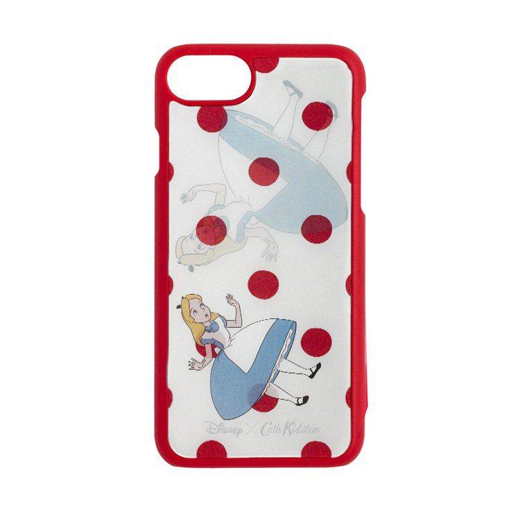 「愛麗絲夢遊仙境」系列愛麗絲圓點手機殼,1,480元。圖/Cath Kidsto...
