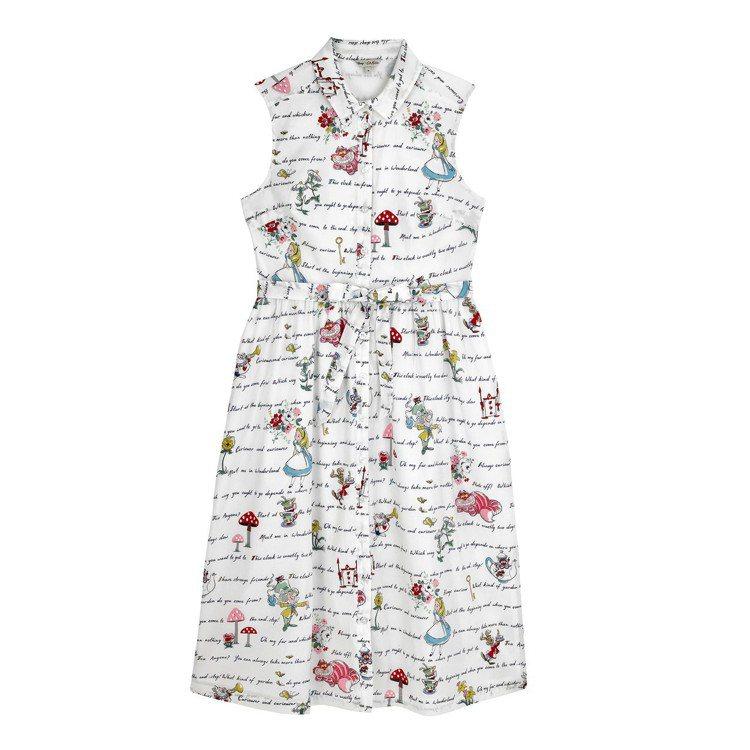 「愛麗絲夢遊仙境」系列愛麗絲書寫洋裝,4,480元。圖/Cath Kidston...