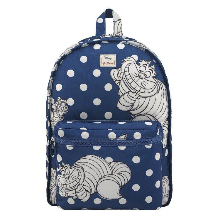 「愛麗絲夢遊仙境」系列愛麗絲妙妙貓圓點後背包(雙面設計),2,880元。圖/Ca...