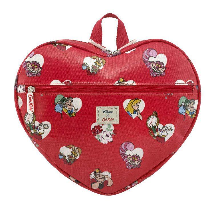 「愛麗絲夢遊仙境」系列愛麗絲紅心後背包,2,280元。圖/Cath Kidsto...