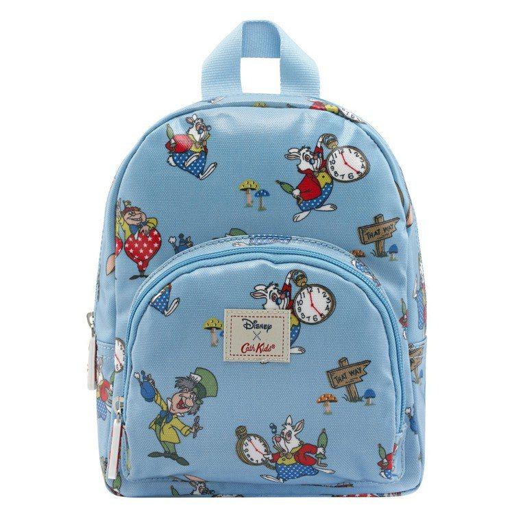 「愛麗絲夢遊仙境」系列白兔瘋帽子迷你後背包,1,480元。圖/Cath Kids...