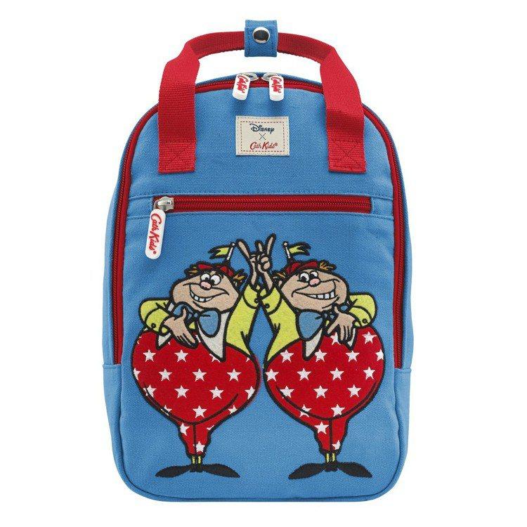 「愛麗絲夢遊仙境」系列阿傻和阿呆後背包,2,280元。圖/Cath Kidsto...