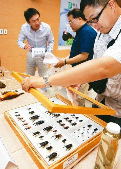 農委會林務局與中研院生物多樣性中心上午舉行「建台灣冷凍方舟、記雲端生命百科,存物...