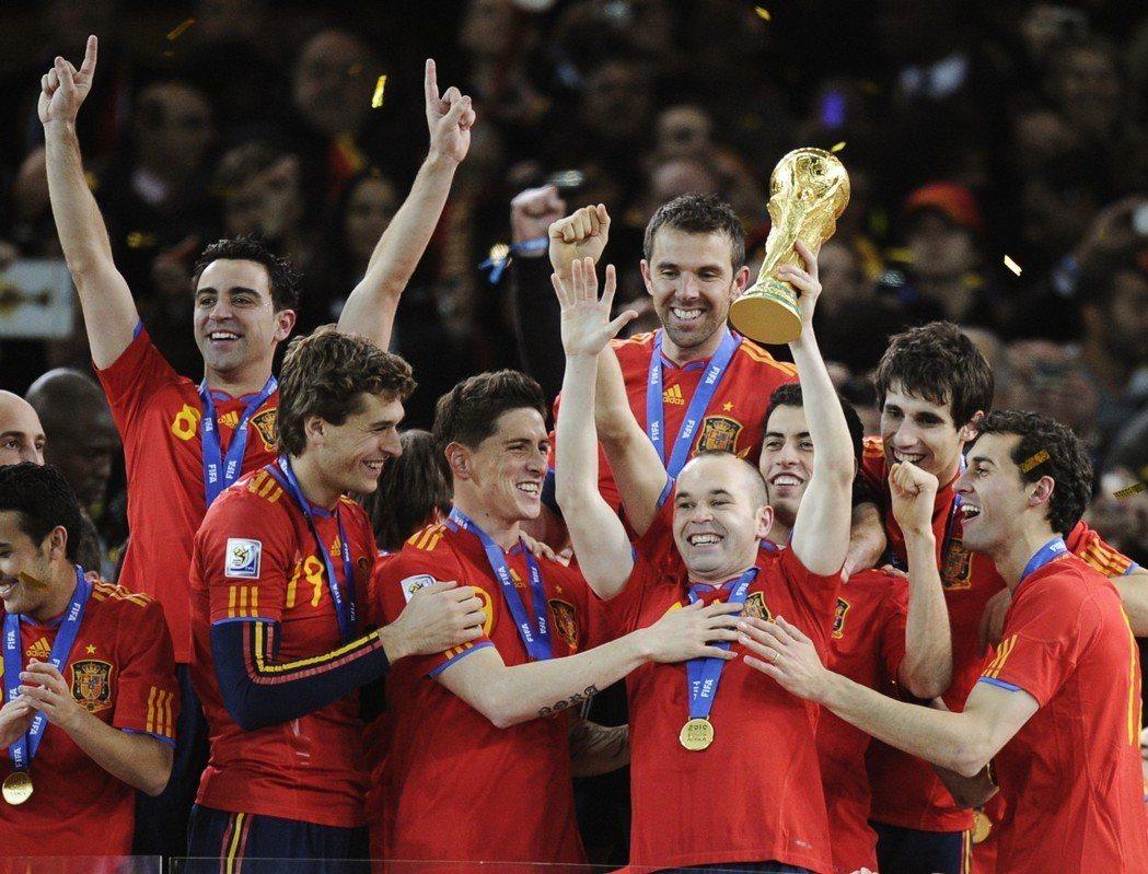 2010年世足賽西班牙奪冠。 美聯社
