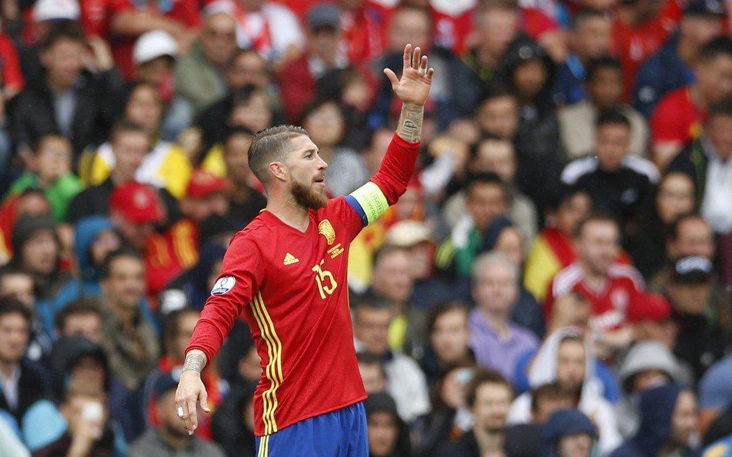 西班牙隊長拉莫斯。 路透