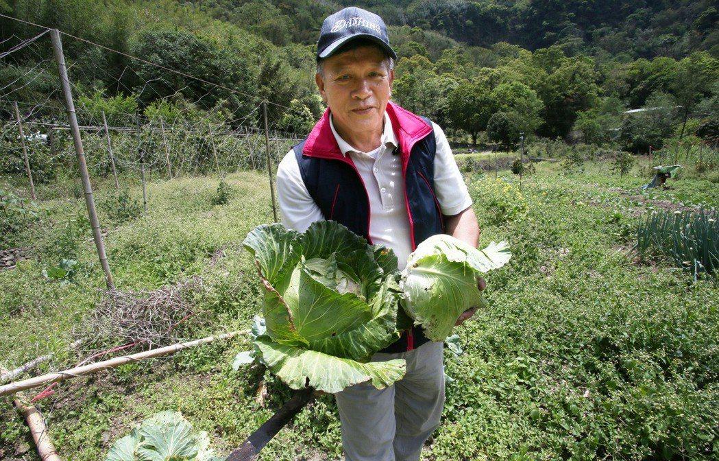 阿里山達邦部落餐廳老闆汪啟德,十年來倒貼油資為達邦國小學童張羅營養午餐食材。記者...