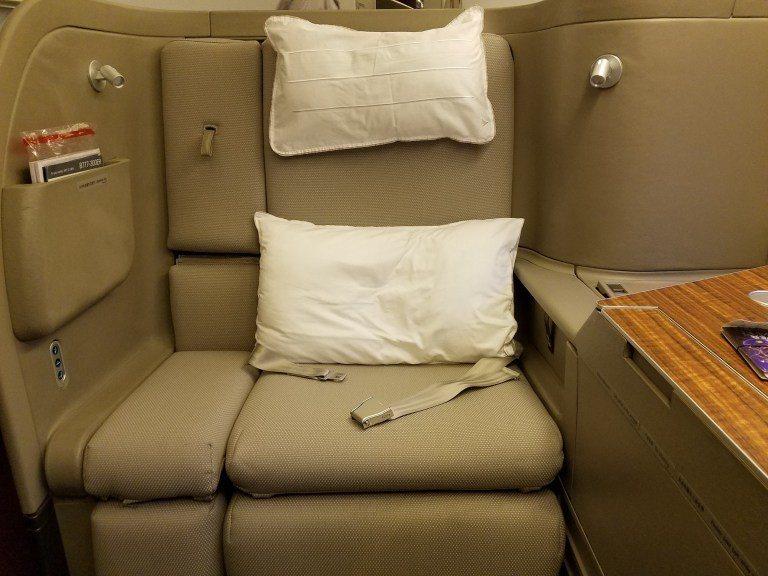 好大啊~果然是頭等艙,座椅太寬敞了 圖文來自於:TripPlus