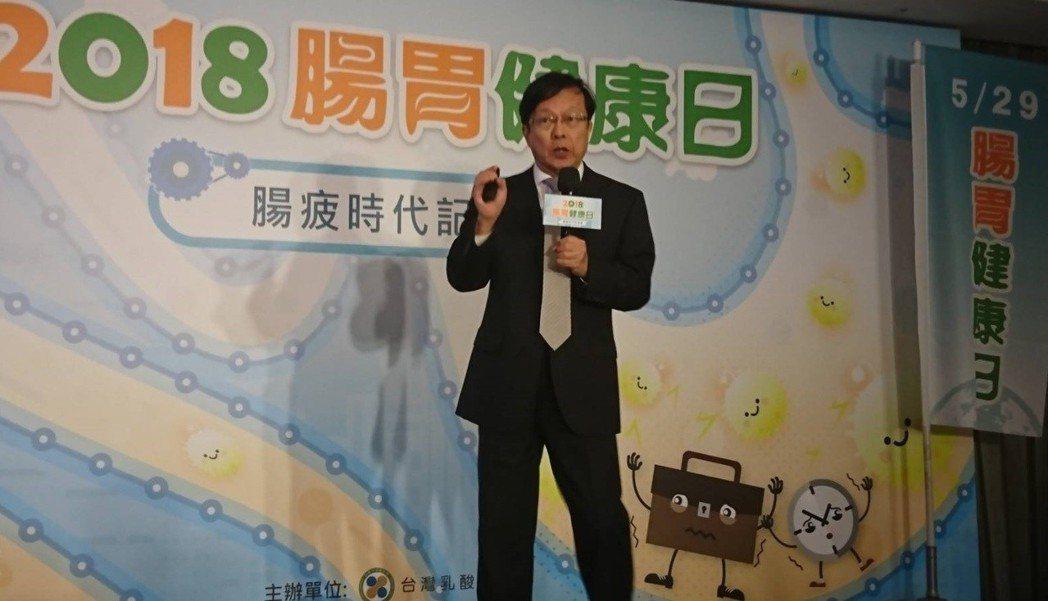 台灣乳酸菌協會榮譽理事蔡英傑說,腸道是最重要的免疫器官,高達七成的免疫球蛋白都在...