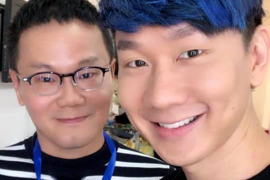 陳澤杉(左)與林俊傑。圖/摘自臉書