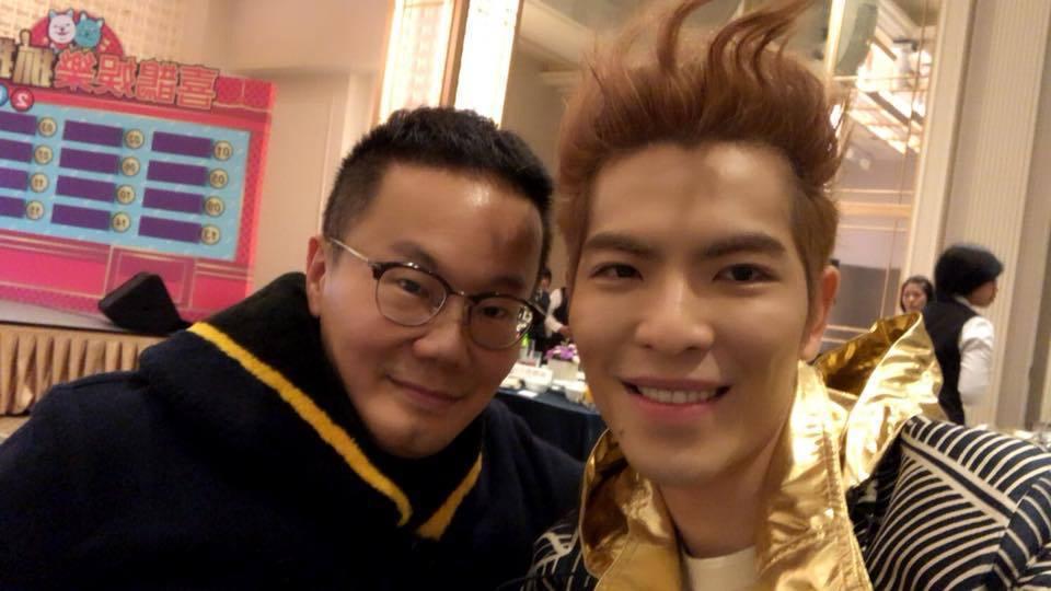 陳澤杉(左)與蕭敬騰。圖/摘自臉書