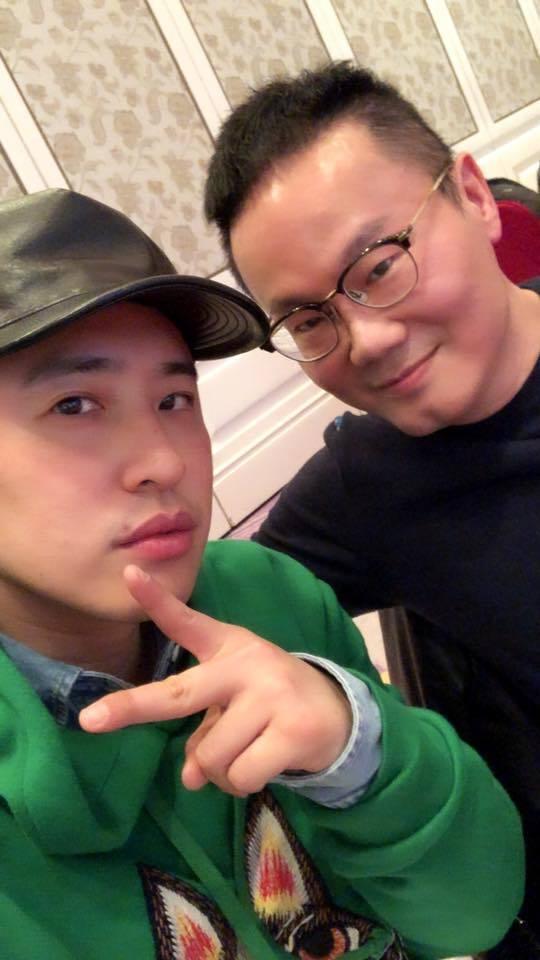 陳澤杉(右)與潘瑋柏。圖/摘自臉書
