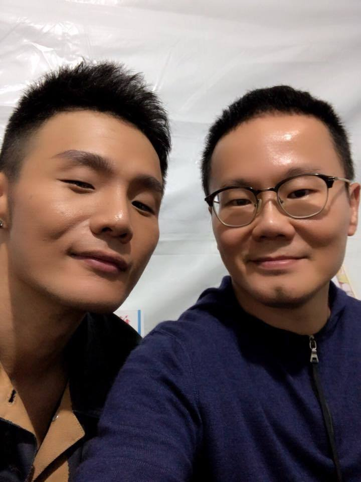 陳澤杉(右)與李榮浩。圖/摘自臉書
