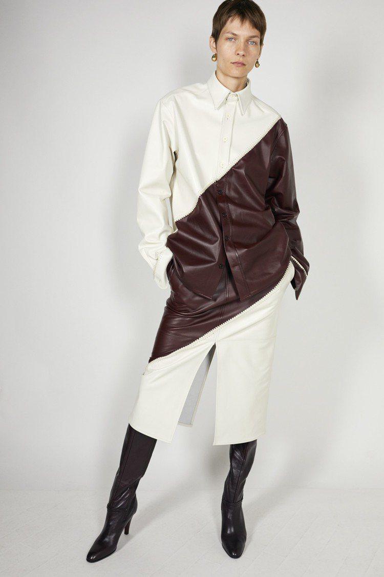 手工縫製拼接的皮革也是秋季的標誌特色之一。圖/CÉLINE提供