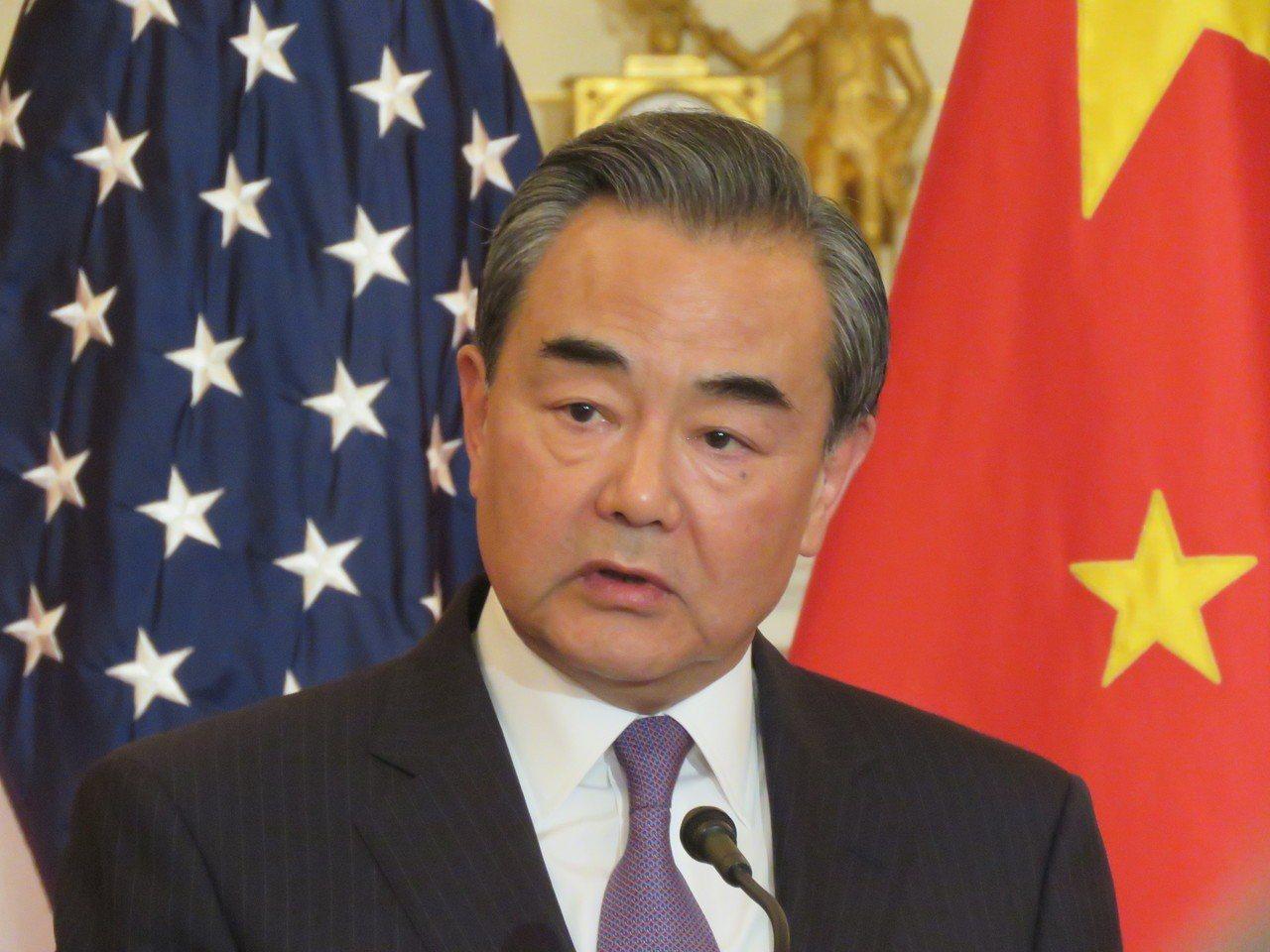 中國大陸國務委員兼外交部長王毅。 華盛頓記者張加/攝影