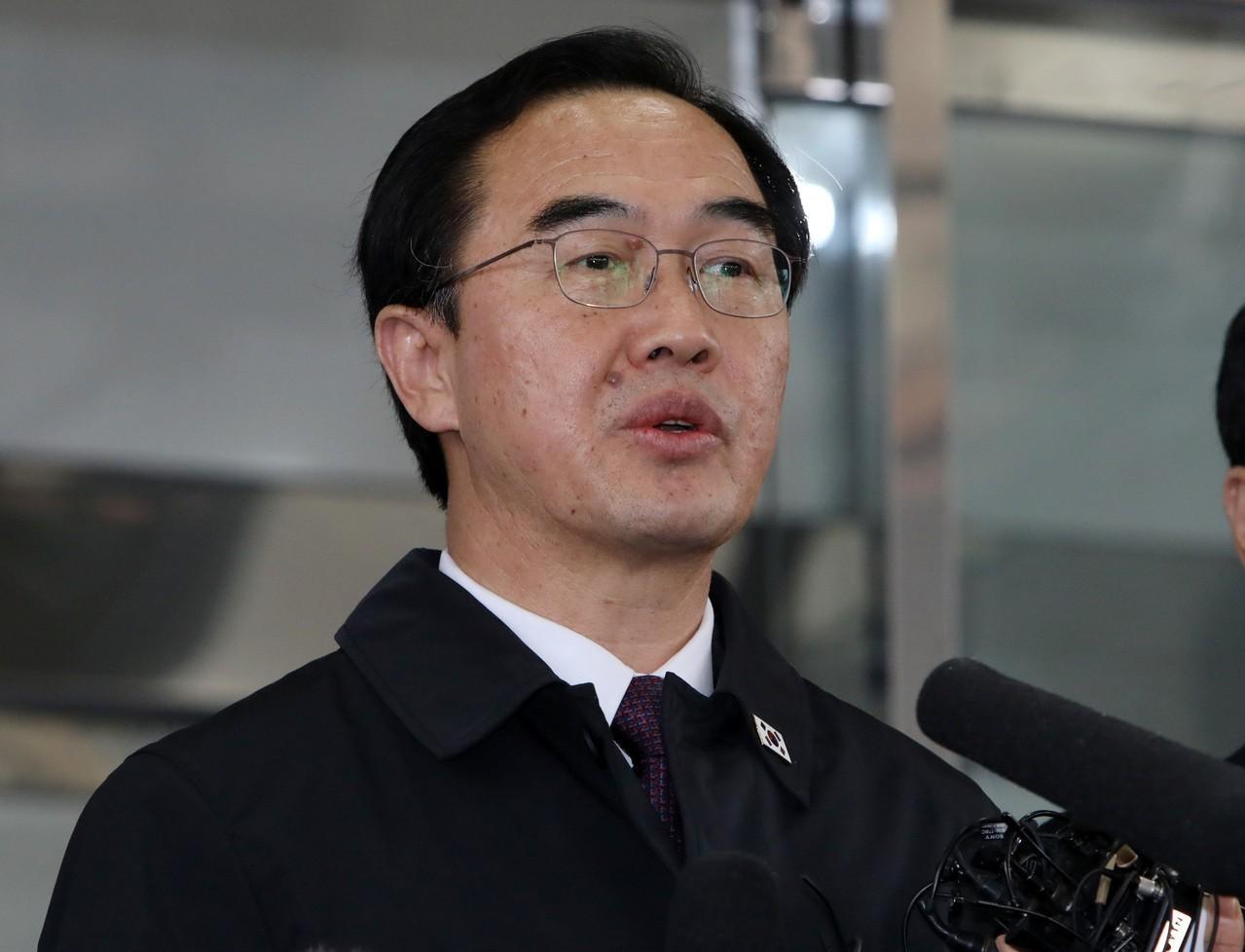 南韓統一部長趙明均(圖)6日表示,不久之後,在板門店共同警備區(JSA)內實現所...