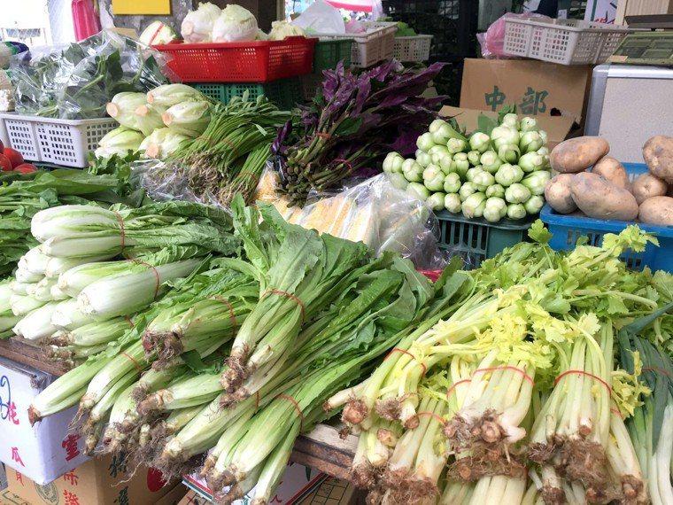 圖為市場所販售青菜。聯合報系記者高彬原/攝影