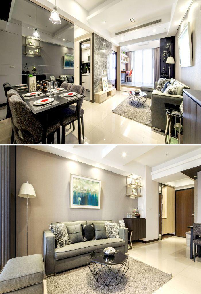 「合康雲極」運用沉穩大地色調,打造溫暖舒適的居家空間。(圖為2+1房實品屋)...