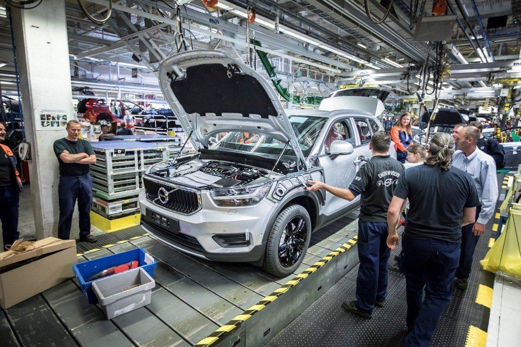 Volvo XC40位於比利時根特工廠進行組裝。 摘自Volvo