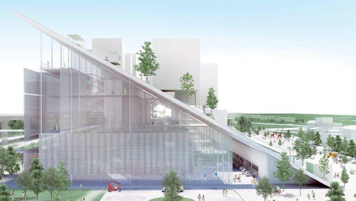 桃園市立美術館以新穎的山丘造型為建築主體外觀,將打造2棟,各為地上5層、地下1層...