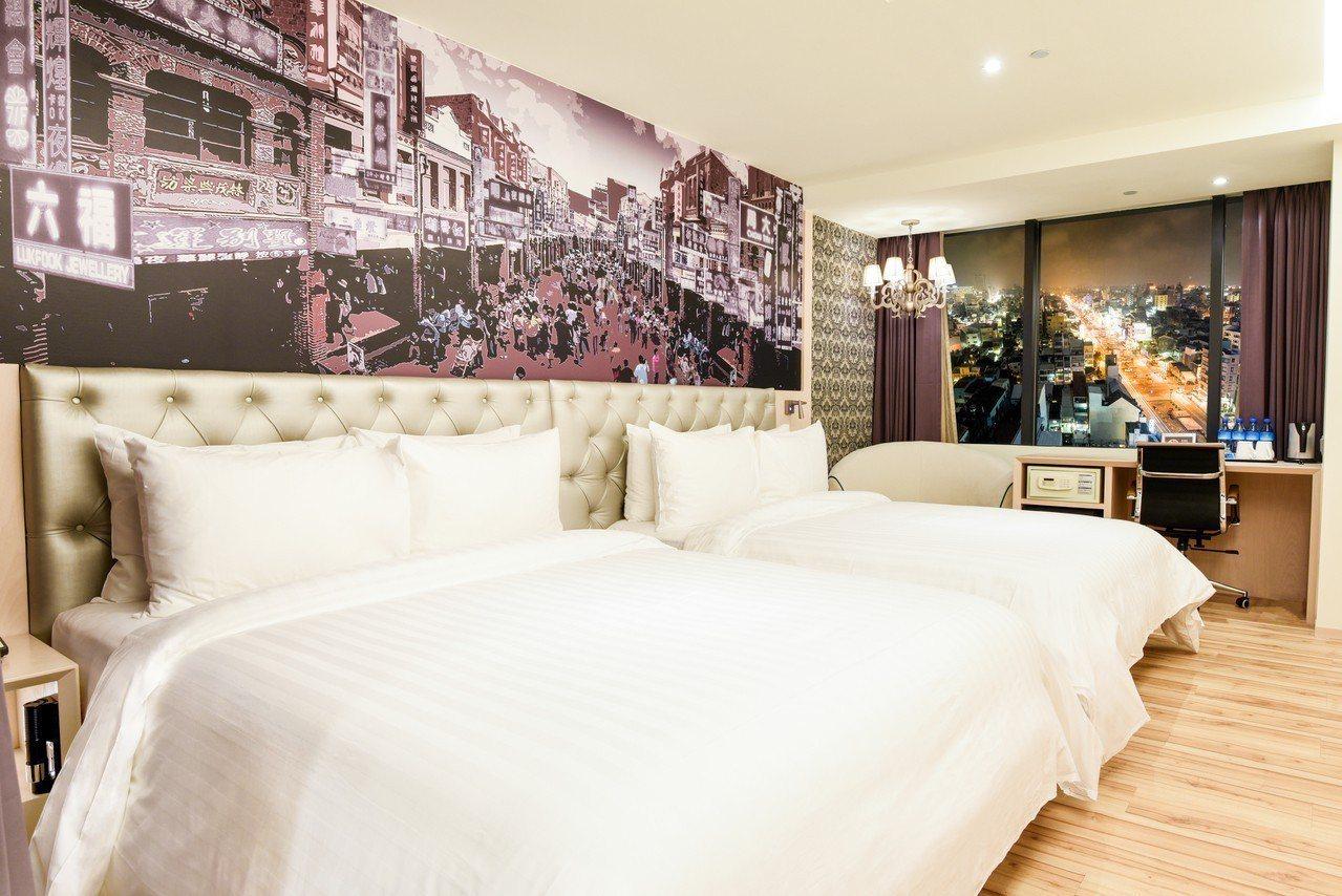 富驛酒店台南與高雄館,推出平日買1晚送1晚的優惠。圖/富驛酒店提供