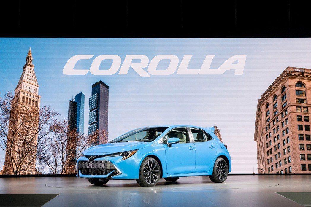 新世代美規Toyota Auris(Corolla Hatchback)。 摘自...