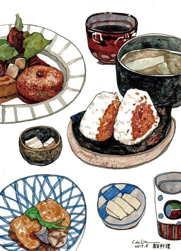 島旬的料理擺盤有一種簡樸的藝術味