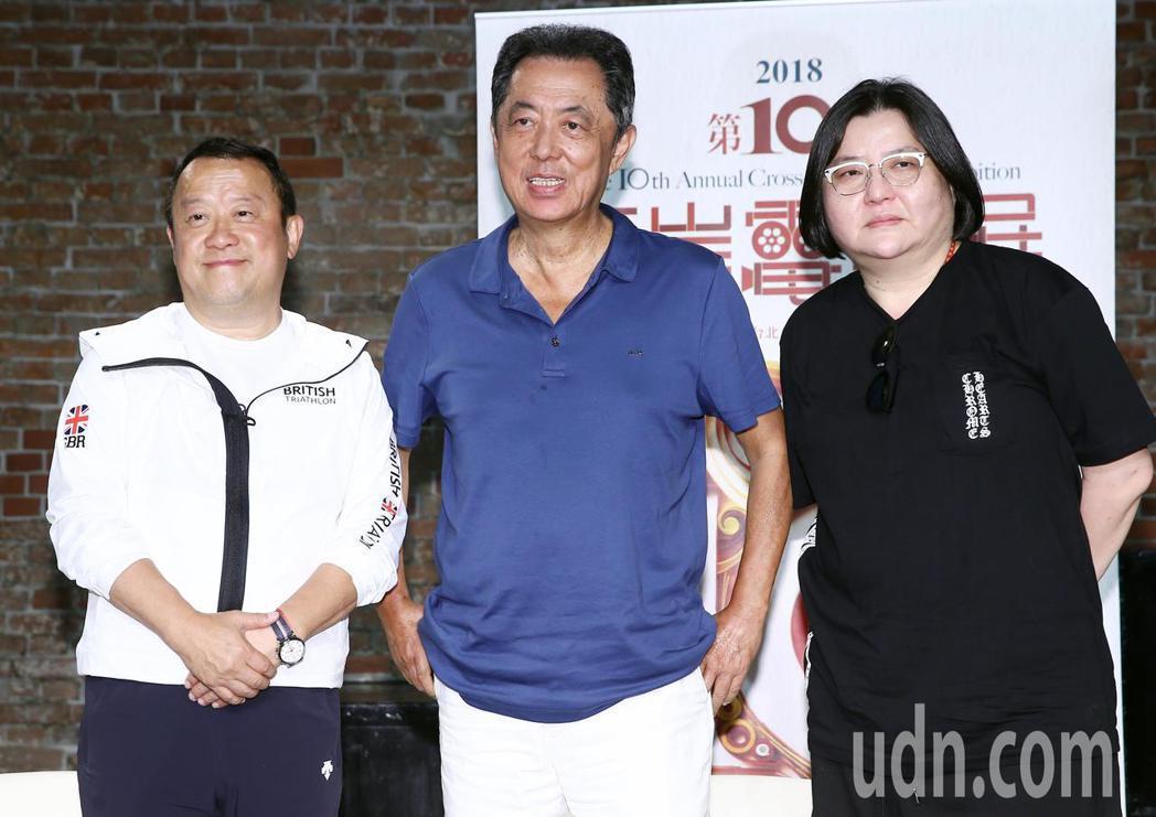 兩岸交流協會特別在台北紅樓舉辦一場喜劇論壇,邀請曾志偉(左起)、朱延平、邱瓈寬三...