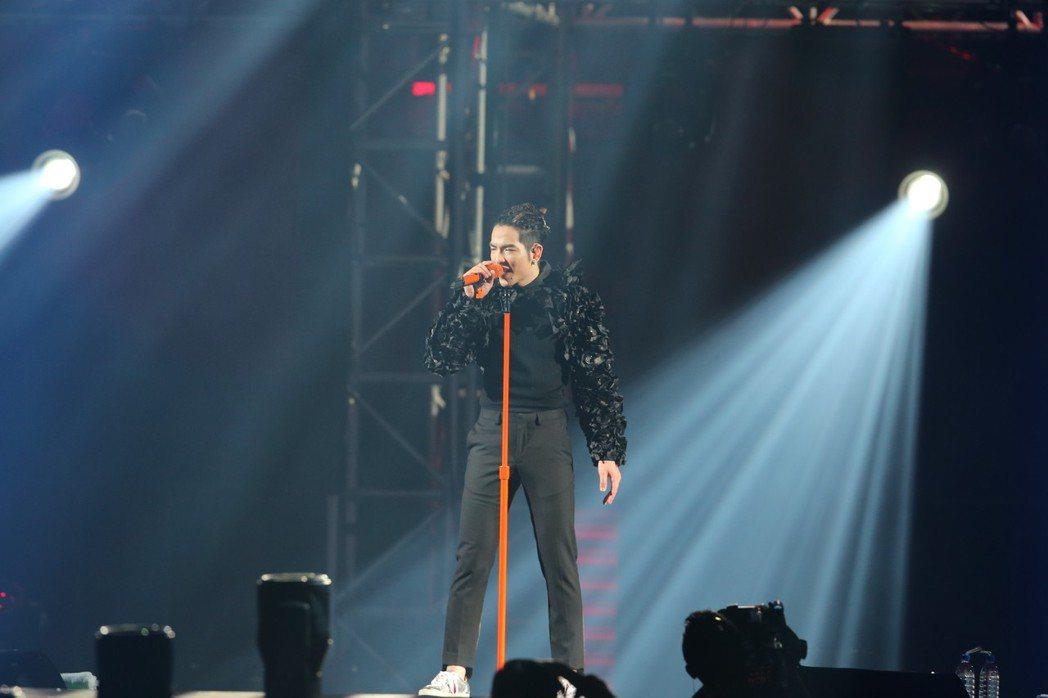蕭敬騰26日起一連兩天在台北小巨蛋開唱。記者許正宏/攝影