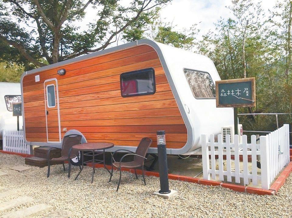 露營車外觀色彩繽紛。 圖/綠光森林提供