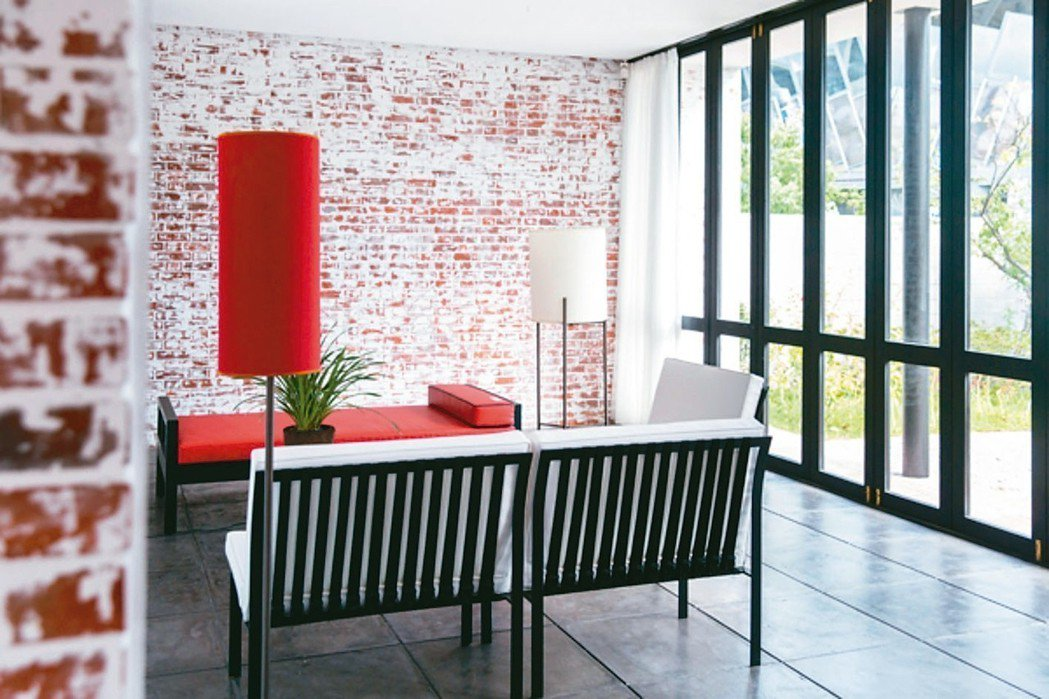 王大閎自宅的客廳。 北美館/提供