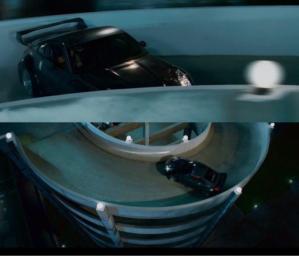 玩命關頭3:東京甩尾350Z停車場甩尾。 摘自Movie Car Chases ...