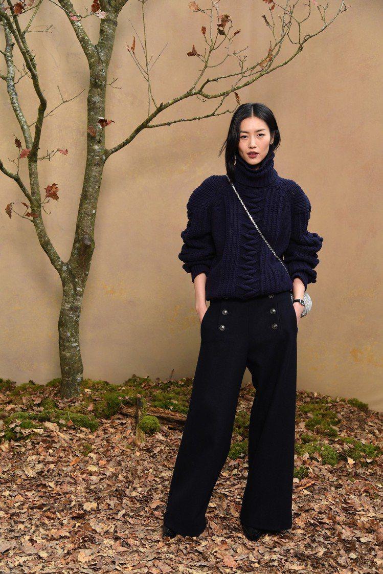 劉雯也是香奈兒褲裝愛好者。圖/香奈兒提供