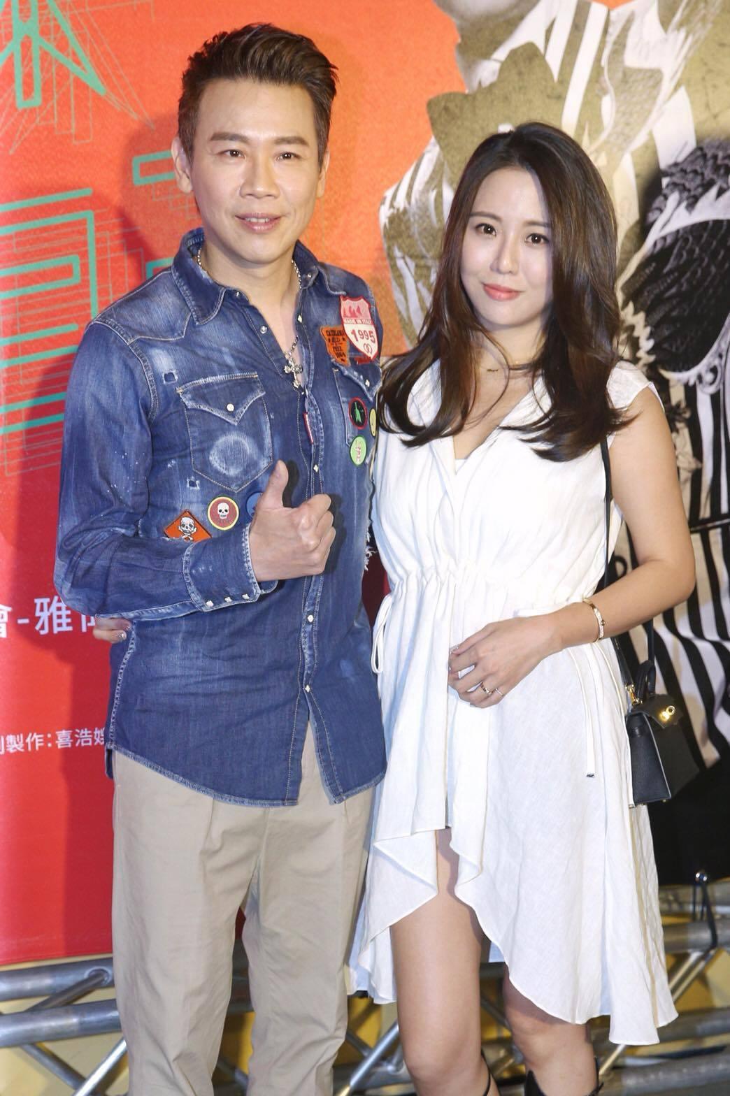 陶喆和老婆一起來看老蕭演唱會。記者林伯東/攝影