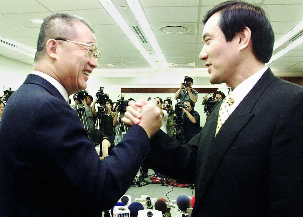 1998年台北市長選舉,王建煊最後「棄王保馬」,不與馬英九搶票。 圖/聯合報系資...