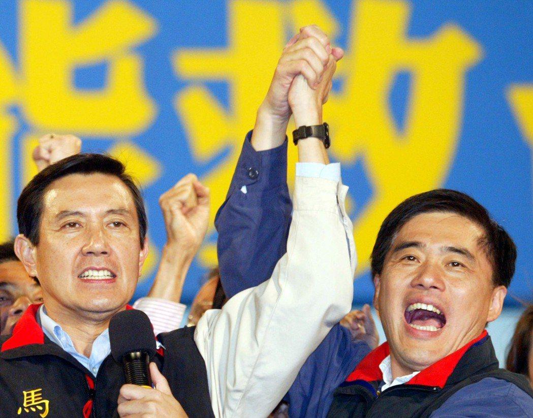 馬英九(左)與郝龍斌(右)都曾成功連任台北市長。 圖/聯合報系資料照片