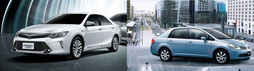 國產兩款車型Camry Hybrid、Tiida 4門決定停產。 摘自Toyot...