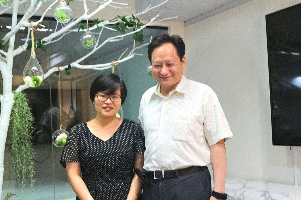 BitRabbit比特兔交易所共同創辦人Lucy Chen(左)與台灣金融科技協...