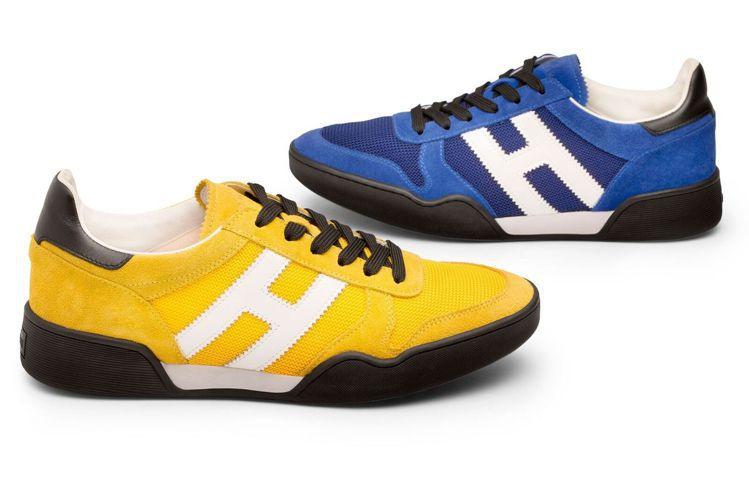 HOGAN H357復古運動繫帶休閒鞋,13,000元。圖/迪生提供