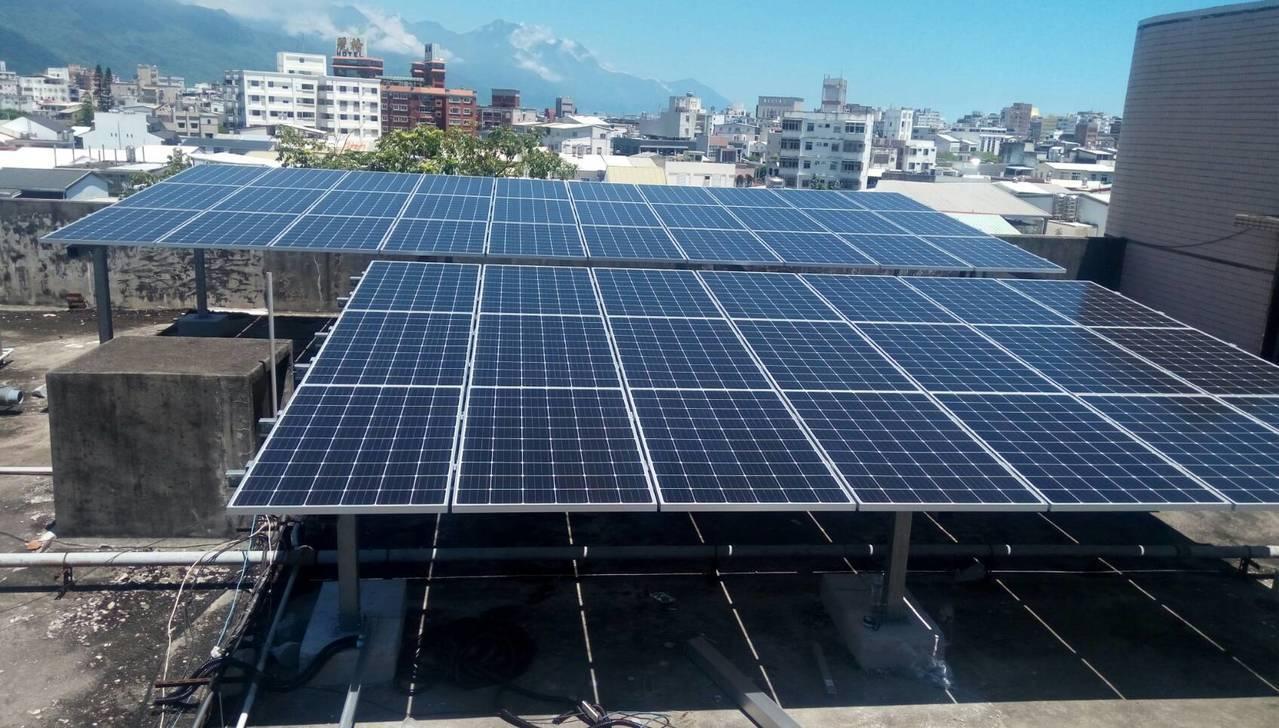 花蓮高農響應政府陽光屋頂百萬座計畫,每年發電量約100萬度,1年發電量約減少63...