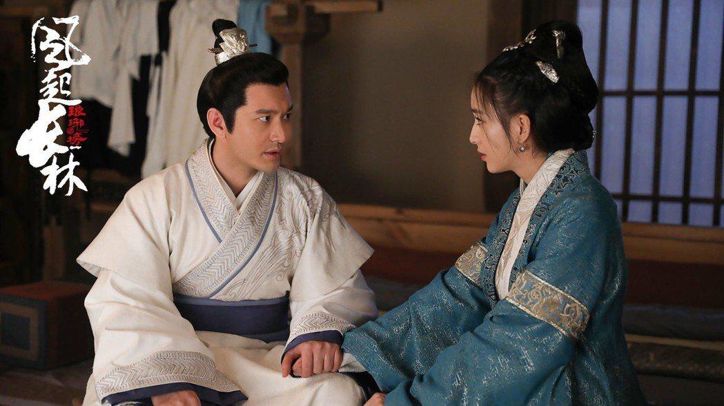 黃曉明、佟麗婭在「琅琊榜 風起長林」中飾演王府世子、世子妃。圖/緯來戲劇台提供