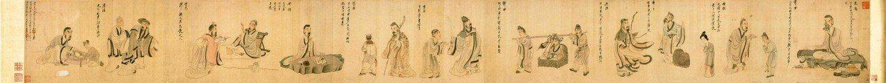 圖一:陳洪綬〈陶淵明歸去來圖〉(局部)。 蔣勳 圖片提供