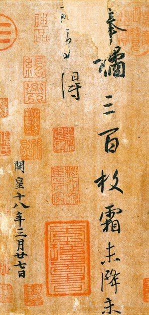 圖三:王羲之〈奉橘帖〉。 蔣勳 圖片提供