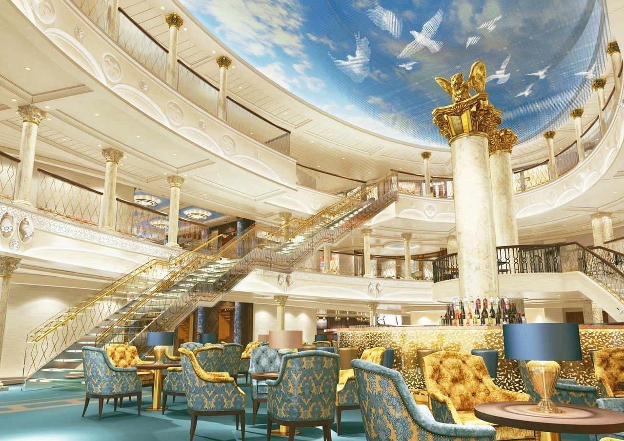 威尼斯號大廳以聖馬可廣場為靈感打造。 圖/雄獅旅遊提供