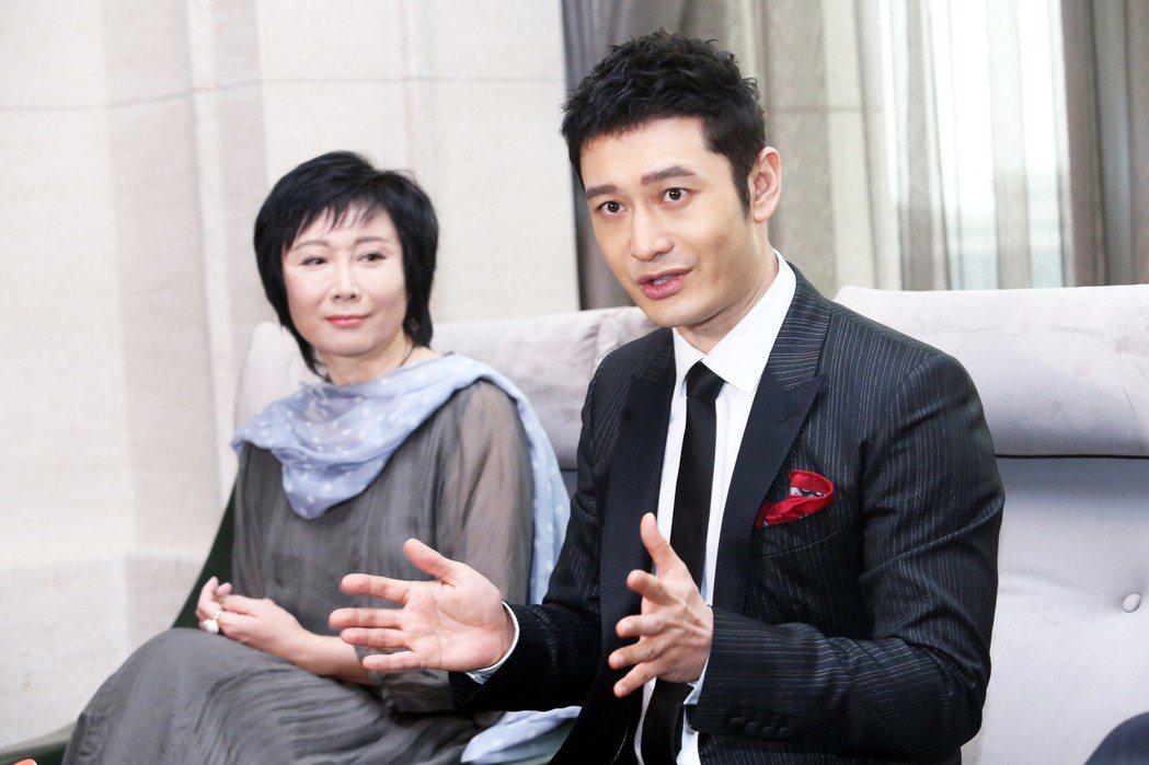 《無問西東》的男主角兼出品人黃曉明出席媒體茶會宣傳新電影。記者徐兆玄/攝影
