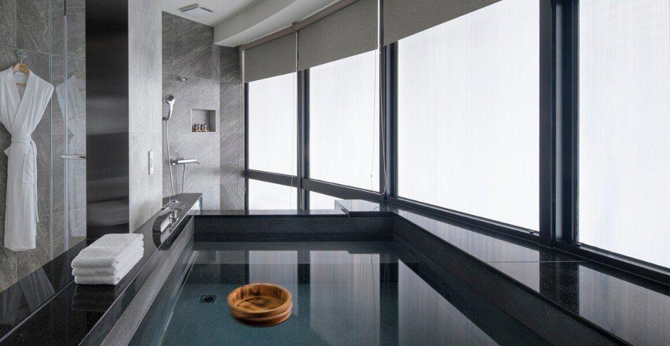礁溪山形閣溫泉飯店的每間客房內,都設有私人獨立溫泉浴池。(圖片提供/礁溪山形閣溫...