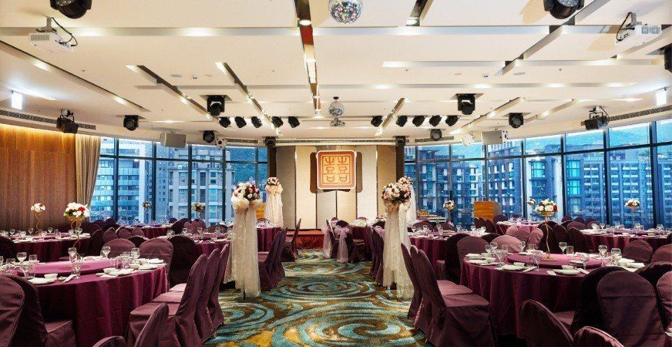 噶瑪蘭宴會廳適合舉辦中式筳席、婚禮宴會或各式會議。(圖片提供/礁溪山形閣溫泉飯店...